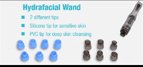 Hydrafaical peel machine wands