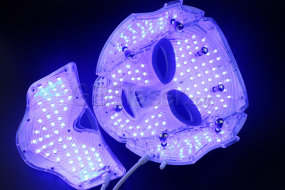 professional red blue light therapy facial led mask